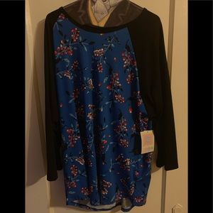 Dresses & Skirts - 3xl Randy shirt-Blue/Black abstract floral  #18